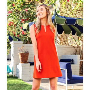 Jude Connally Nadine Ponte Knit Tangerine Dress S